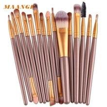 U MAANGE 15 pcs Makeup brushes sets Pro hair eyebrow foundation brush pen cleaner Cosmetics maquiagem cosmetics Drop Shipping