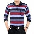 2017 homens da mola camisas de mangas compridas camisa polo homme regular fit striped contraste de cor algodão plus size camisa barcelona