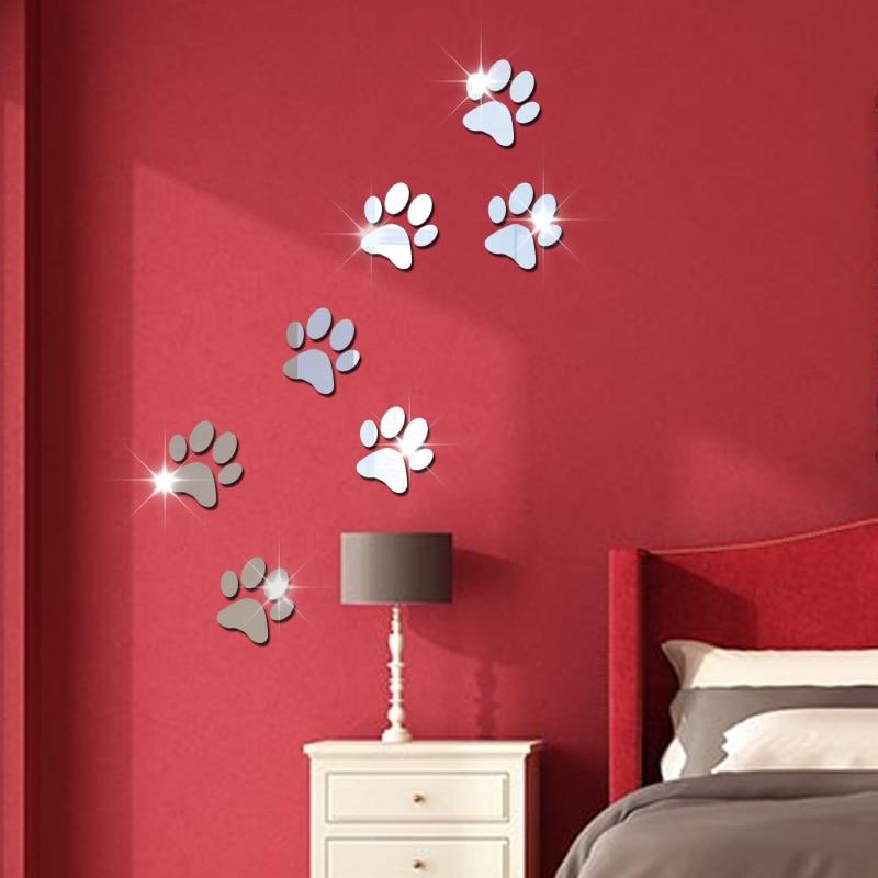mirror wall bedroom cartoon sitting crystal background feet decorates acrylic children zoom