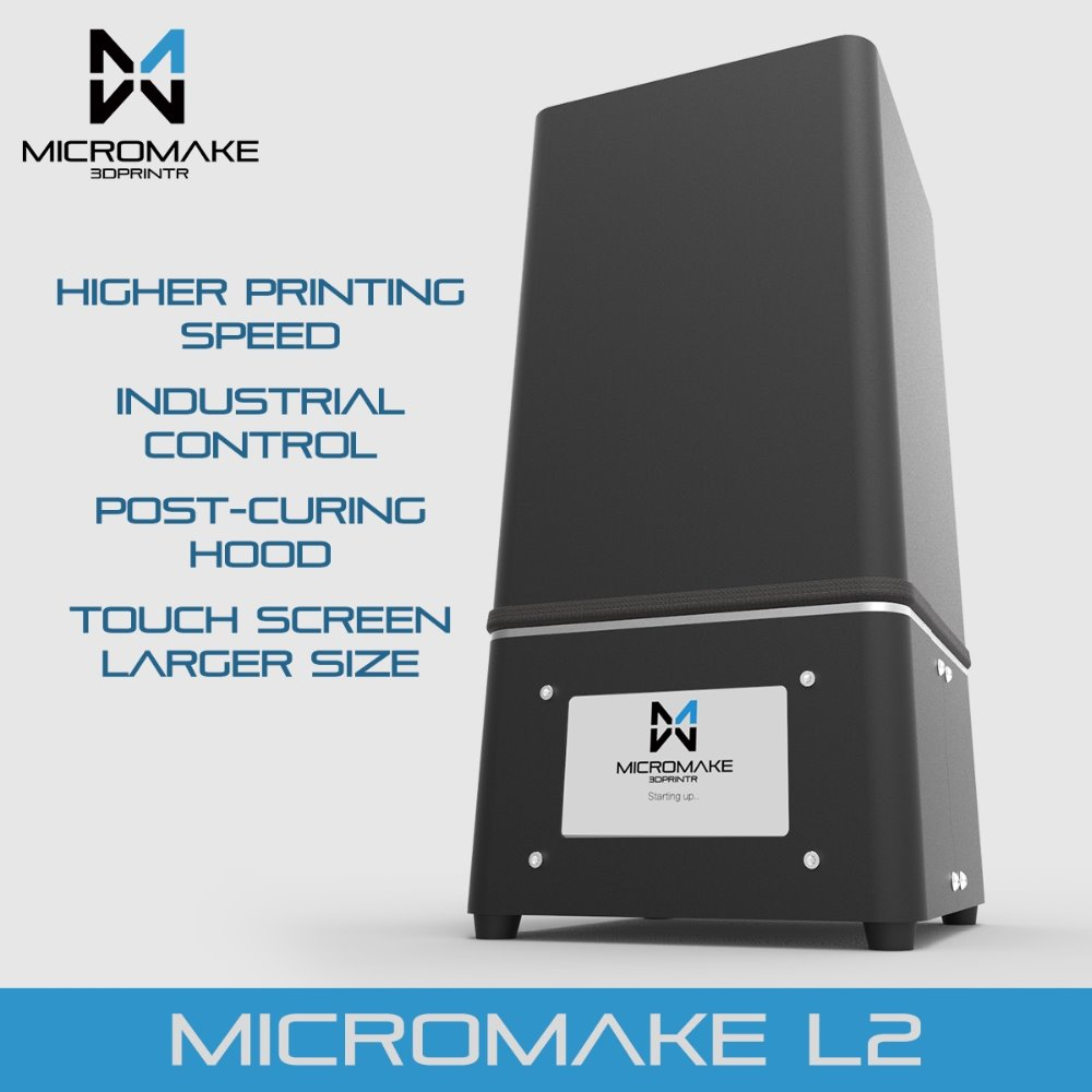 Micromake New Upgrade L2 UV Resin 3d printer SLA/DLP 3D Printer for curing with touch screen High Accuracy 1000mlhigh quality photopolymer resin photoreactive resin for sla 3d printer dlp 3d printer of fd165 and form1 and form 1