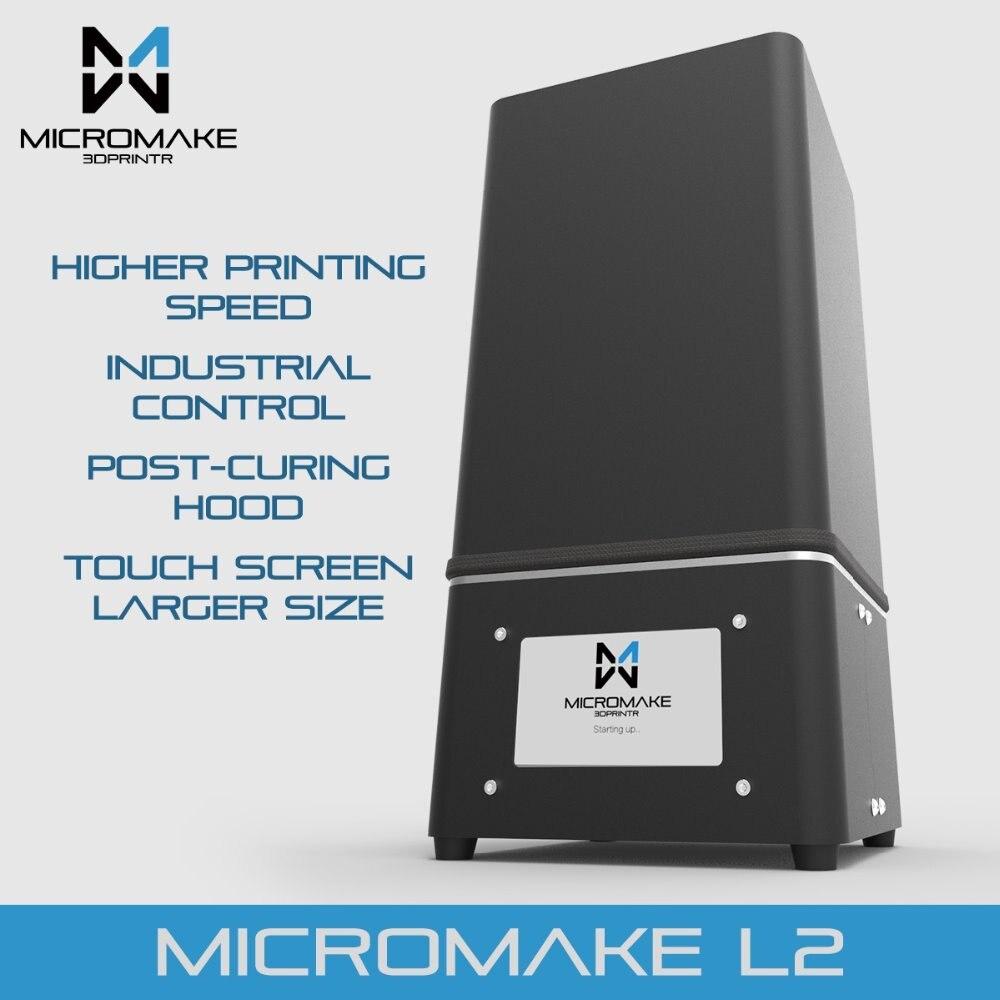 Micromake Nouvelle Mise À Jour L2 UV Résine 3d imprimante SLA/DLP 3D Imprimante pour durcissement avec écran tactile Haute Précision