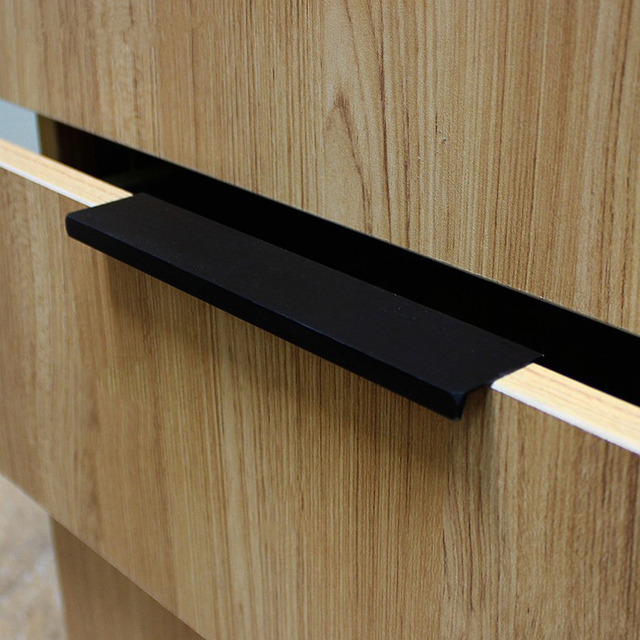 Modern Simple Cabinet Door Edge Handle Wardrobe Drawer