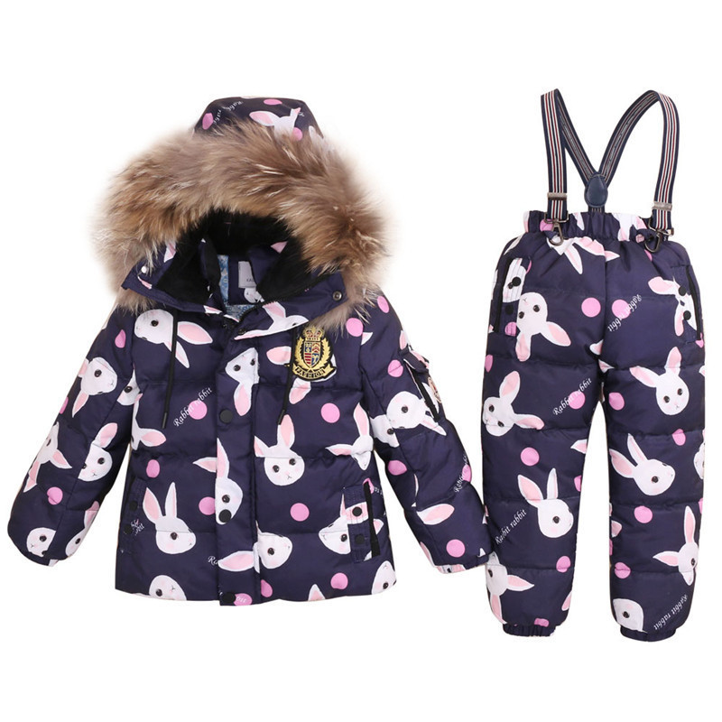 Winter Children Down Suit Long Zipper Solid White Duck Down Boys Girls Down Jackets Thickening Jacket + Pants 2Pcs Clothes T27Winter Children Down Suit Long Zipper Solid White Duck Down Boys Girls Down Jackets Thickening Jacket + Pants 2Pcs Clothes T27