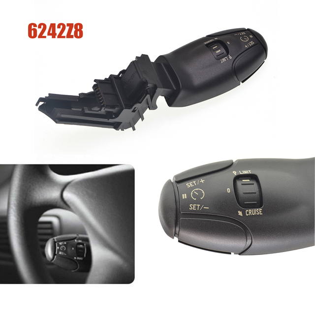 car switch cruise control switch for peugeot 307 207 308 407 607 3008 for citroen xsara berlingo c3 c5 c8 6242Z8