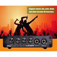 Мини звук караоке консоль стерео микшер микрофон эффекторный усилитель US Plug ND998