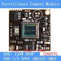 AHD 960 1200TVL1 3MP Board Camera Module Cctv Camera PCB 1 3 SONY IMX225 Color Camera