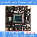 """AHD 960 P 1200TVL1. módulo de câmera de bordo cctv PCB câmera de 3MP, 1/3 """"sony imx225 cor prato de câmera, baixo 0.001lux, 28*28mm"""