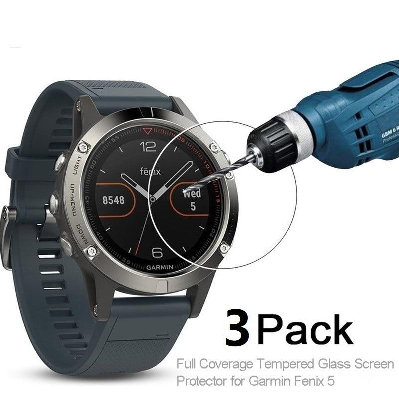 3pcs For Garmin Fenix 5 5plus Tempered Glass 9H Premium Full Screen Protector Film For Garmin Fenix5 5 Plus SmartWatch Cover