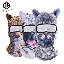 3D Cut Animal Ear Balaclava Full Face Mask Bicycle Hats Snowboard Party Halloween Winter Warmer Face Mask Cat Dog for Men Women