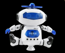 Kids toy Space dancing robot LZ444 Lightweight Electronics Creative infrared electric music rotating light remote control robot