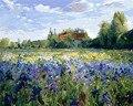 Lila Blume ölgemälde von Nummer hand gemalten farbe Färbung durch Zahlen leinwand Gemälde Bild home decor Zeichnung lavendel-in Malerei und Kalligraphie aus Heim und Garten bei