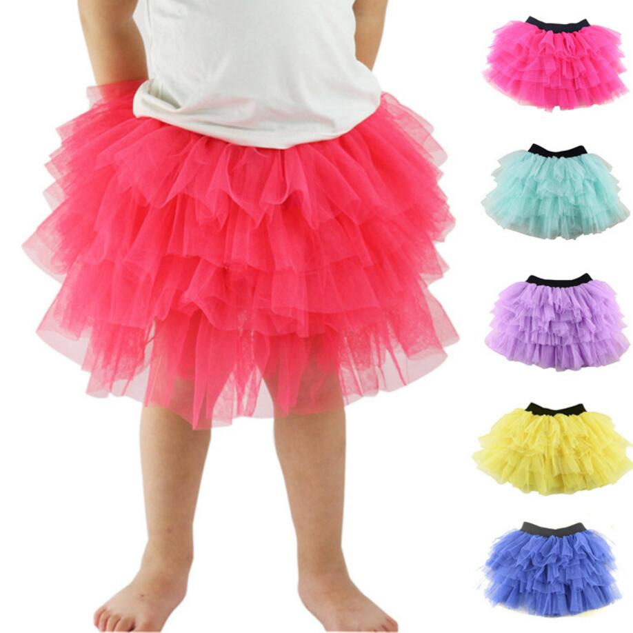 1 StÜck Baby Mädchen Tutu Rock 6 Schichten Weichen Mesh Tüll Röcke Infant Kleinkind Mädchen Pettiskirts Tutu Röcke