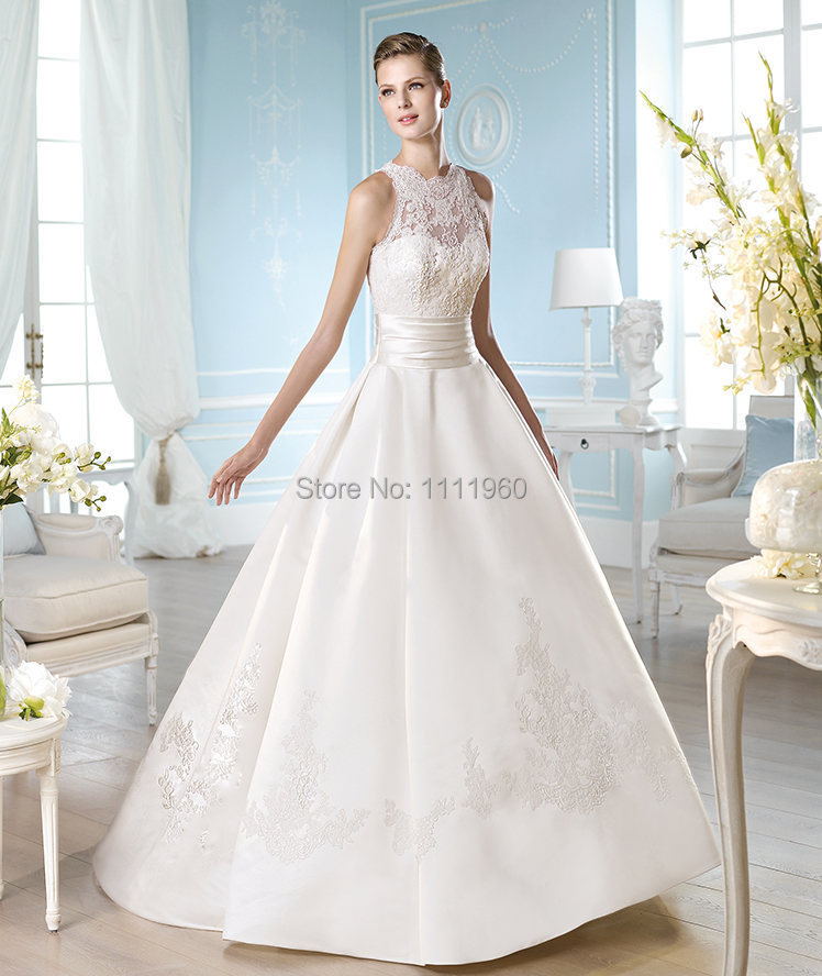 Vinatge Wedding Gowns Made In China 2015 Top Lace Sheer