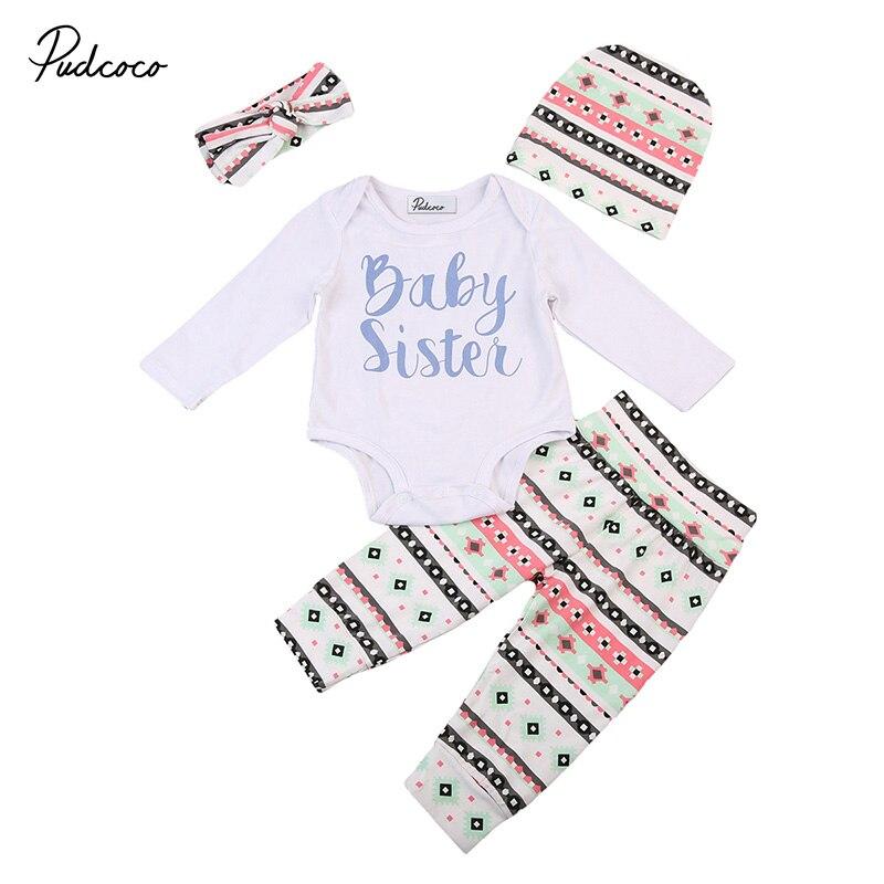 Pudcoco Фирменная новинка детские сестра Одежда для новорожденных комбинезон с длинными рукавами Топы корректирующие длинные штаны, леггинсы ...
