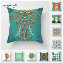 Fuwatacchi Indian Style Cushion Cover Feather Sheep Skull Pillow Case Home Decorative Avatar Pillows For Sofa Seat
