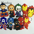 NEW MARVEL The Avengers PVC keychain Captain America spider Thor Iron man man Llavero Lovely classic Fashion cosplay Llavero