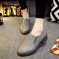 Круглый Носок Плоским Brogue Оксфорд Обувь Для Женщин Вскользь Комфортно Осень Обувь Мокасины Sapatos Femininos Sapatilhas Zapatos Mujer