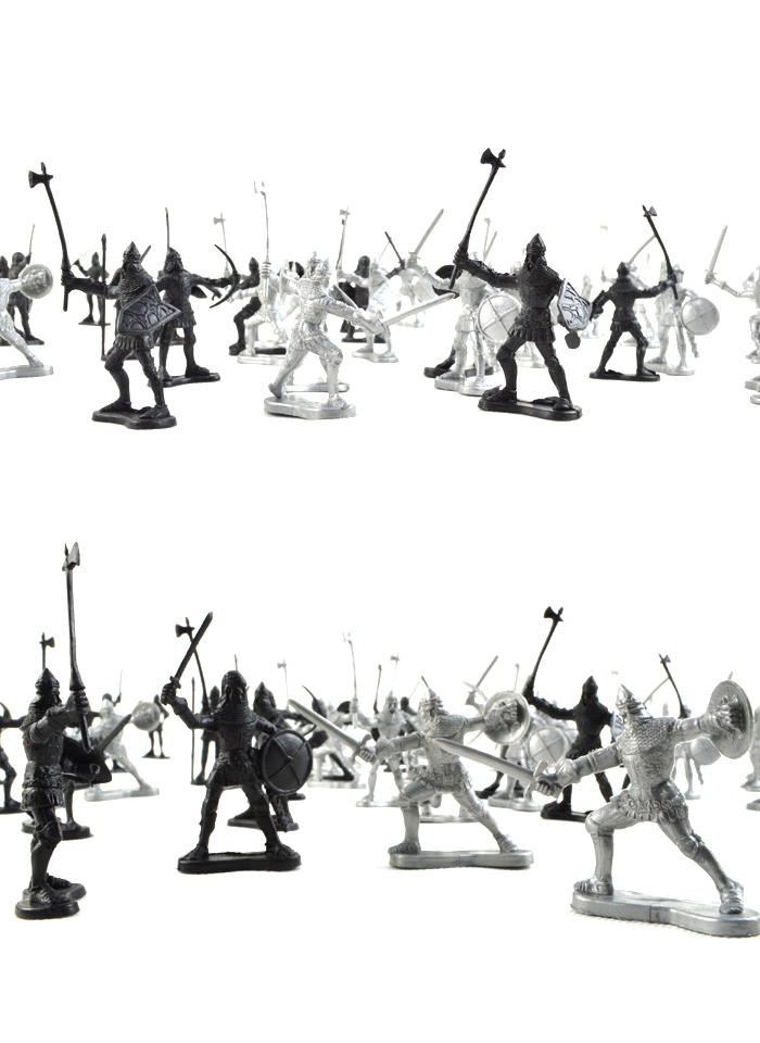 MODEL FANS 60pcs lot Ancient Roman medieval warfare army soldiers character models