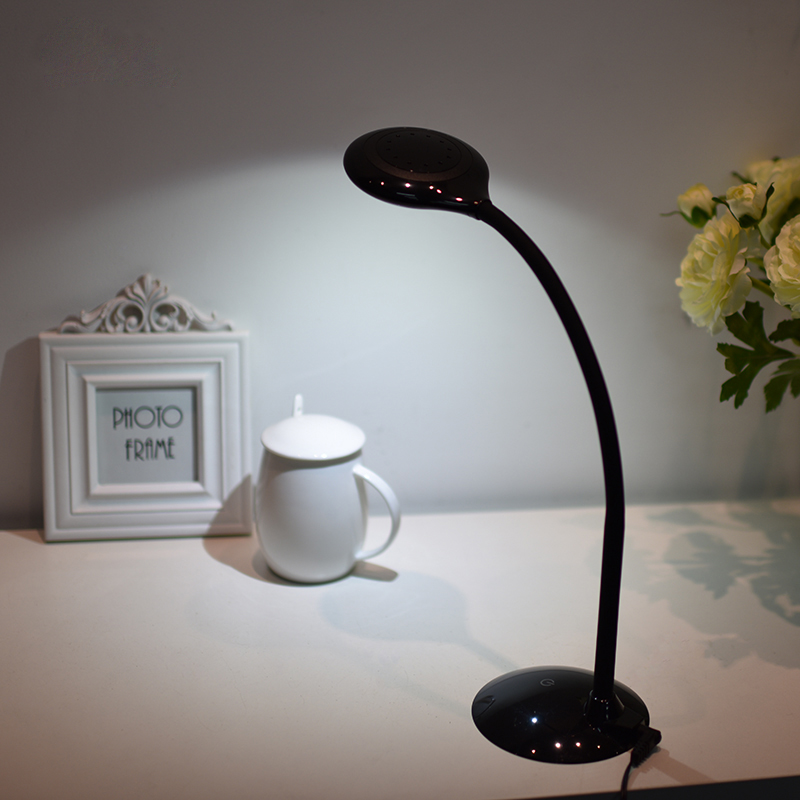 ФОТО Portable USB Desk Lamp 5W Eye-caring Rechargeable LED Table Lamp 3-Level Brightness Student Study Learning Reading Book Light