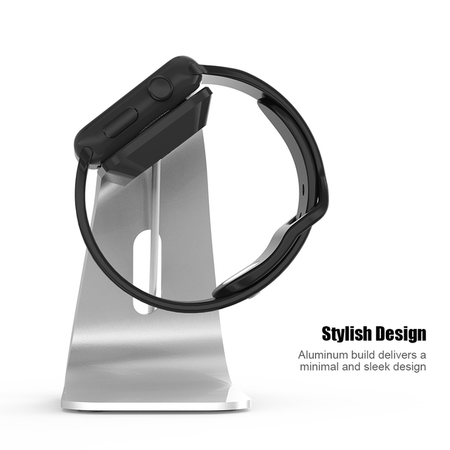 FLOVEME Metal Aluminum Charger Stand Holder for Apple Watch Bracket Charging Cradle Stand for Apple i Watch Charger Dock Station 3