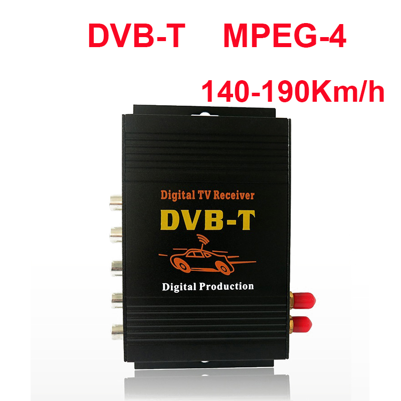 140-190 km/h Due Antenna Car DVB-T MPEG-TV Digitale Ricevitore Box per il Sud America TV Tuner Auto