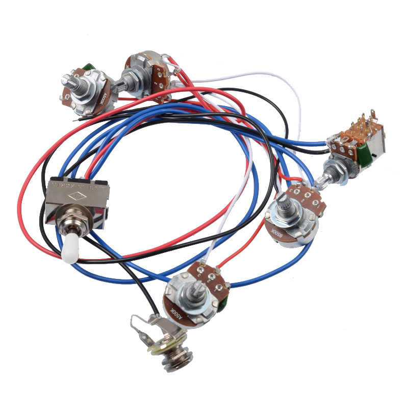 electric guitar wiring harness kit 2v2t pot jack 3 way switch for gibson les paul guitar lp electric guitar parts gibson les paul wiring diagram for guitar gibson wiring jack #8