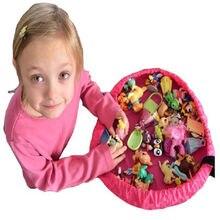 Двухцветный портативный детский игрушечный Органайзер сумка для хранения игровой коврик для Lego ковер коробка Новинка