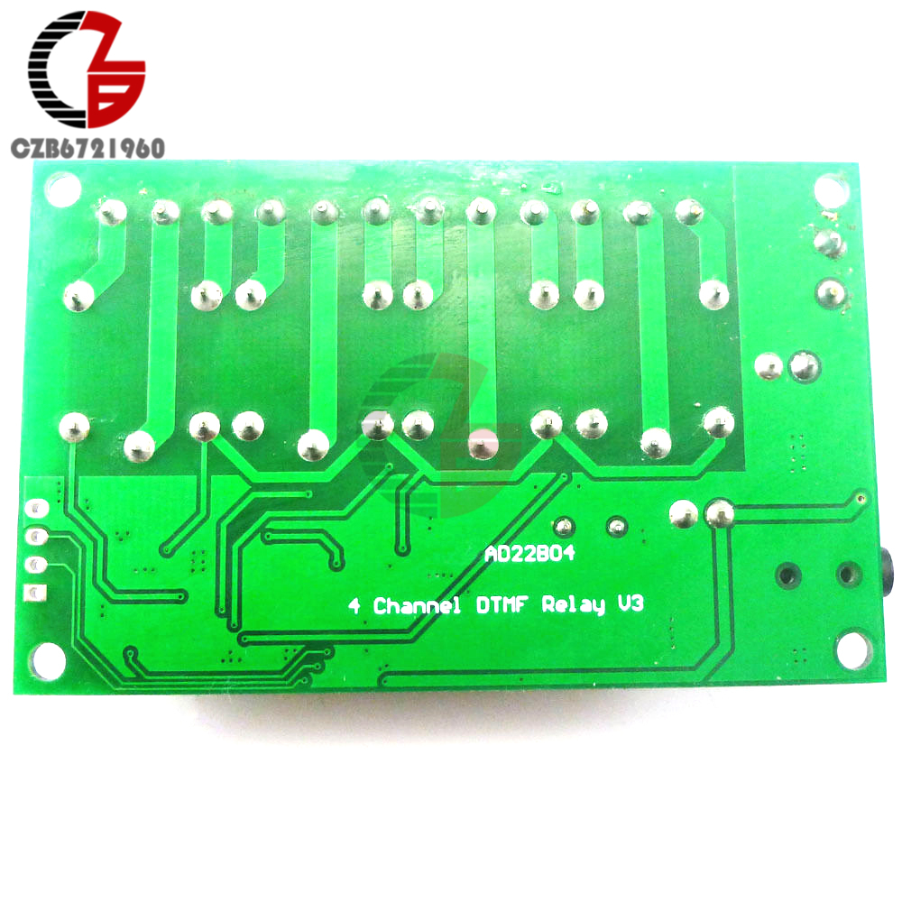 Ad22b04 4 Ch Dtmf Mt8870 Audio Decoder Smart Home Relay Controller Based Remote Control System Voice Phone In Relays From Improvement On Alibaba Group