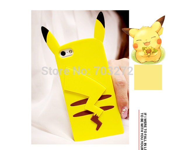 Nette <font><b>3D</b></font> Cartoon Taschen-monster Pika Weiche Silikon Fall Für <font><b>iPhone</b></font> 7 6 6S Plus 5 <font><b>5S</b></font> SE telefon <font><b>Cases</b></font> Fundas Gummi Abdeckungen image