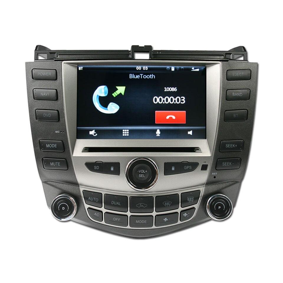 imágenes para Iokone coche de vídeo reproductor de dvd gps para honda accord 7 2003 2004 2005 2006 2007 single & dual a/c radio de coche bluetooth estéreo swc