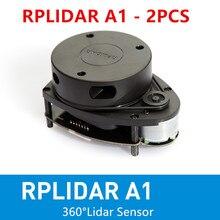 цена на 2 pcs RPLIDAR A1M8 2D 360 degree 12 meters scanning  radius lidar sensor scanner for obstacle avoidance and navigation of robots