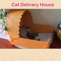 Soft Warm Pet Dog Cat Delivery Bed House Teddy Bed Striped Pet kitten Dogs Pitbull Bed Size S M Pet Supplies