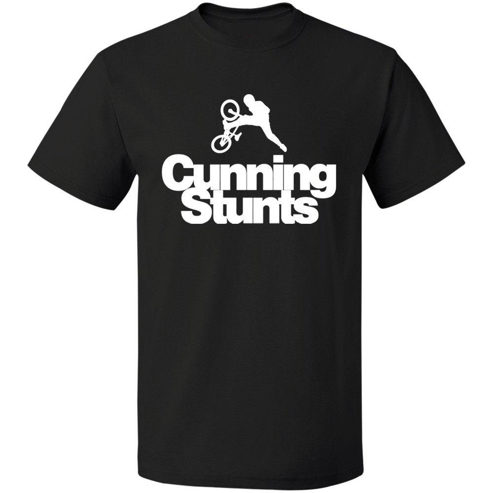 Cunning Stunts BMX T Shirt Funny Cyclinger Mountain Biker Freestyle FREE SHIPPING Men Short Sleeves T-Shirt Top Tee