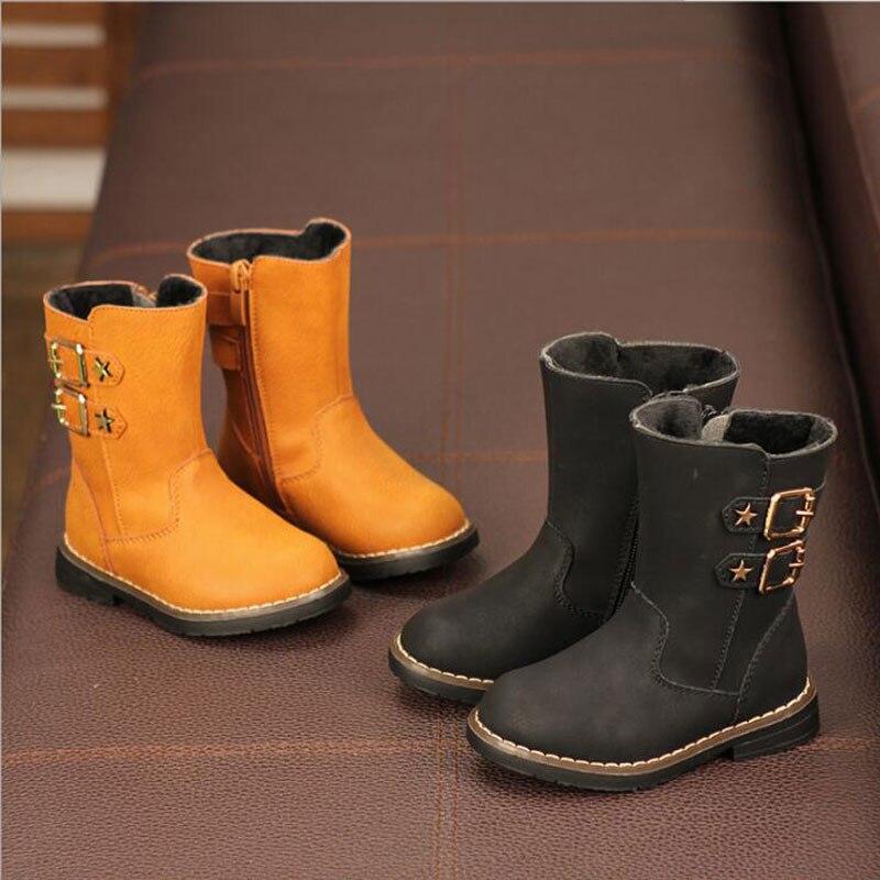 kid shoes Children genuine Martin boots