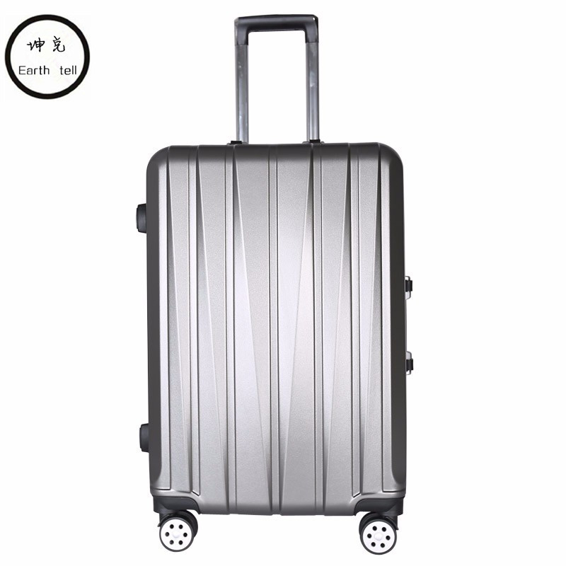 KUNDUI 2024 inch Aluminum frame luggage, universal wheel trolley, password lock Suitcase,abs+PC hard shell Travel Bags valiz