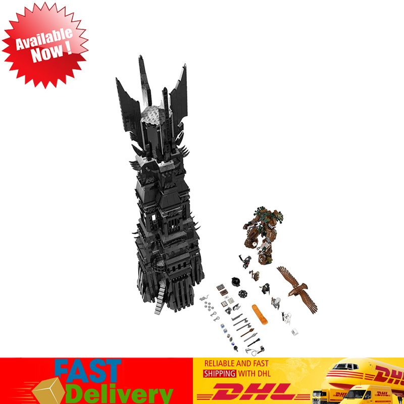 Lepin 16010 2430Pcs Lord of The Rings The Tower of Orthanc Model Building Blocks Bricks Kids Toys Compatible LegoINGlys 10237 building blocks horse lord of the rings the hobbit super heroes star wars set model bricks kids diy toys hobbies figures