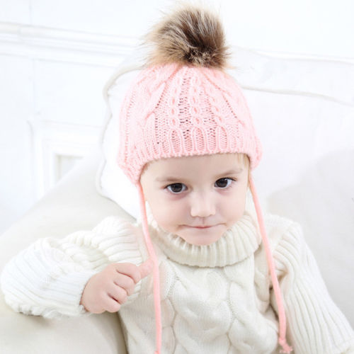 ac908dc3e93 2017 Winter Christmas Lovely Baby Girl Hat Toddler Kid Crochet Earflap  Beanie Newborn Soft Cap Babes Hats-in Hats   Caps from Mother   Kids on ...