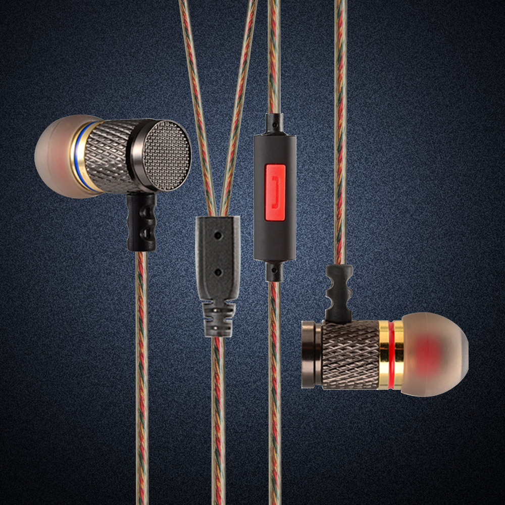 KZ edr1 In-Ear Earphone 3D Stereo Bass With Metal Noise Reduction Earbuds For Smartphone Xiaomi Iphone Oppo PC With/Without Mic em290 copper wire earphone in ear with mic clear 3d sound quality handsfree call for android ios smartphone oppo xiaomi mp3 pc