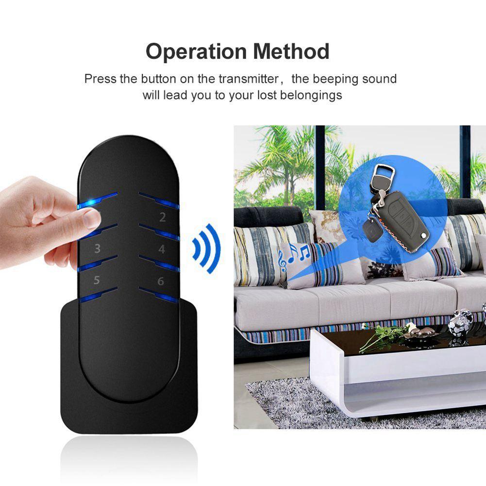 Key Finder,Wireless RF Item Locator Tracker,Mini Item Tracker Cell Phone Luggage Bags Purse Pet Remote Control Anti-lost Tag S