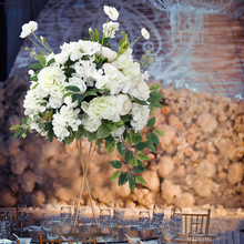 Wedding Artificial Flower Ball Table Hotel Window Decoration Fake Metal Road Lead Party Event