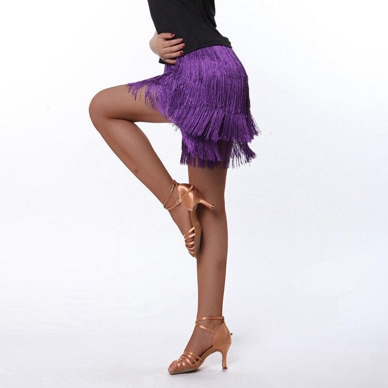 2018 femmes danse latine robe latine frange robe 2015 nouveauté pratique danse femmes gland jupe