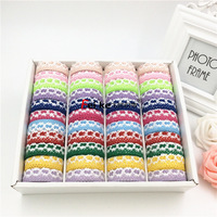 1 5cm Two Color Lace Tape With DIY Clothing Accessories Gift Packaging With Ribbon Trademark Wedding