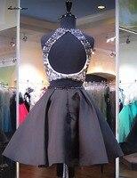 Серые платья на выпускной, вечер встречи выпускников Светоотражающие платья из частей Холтер с открытыми плечами атласные коктейльные веч