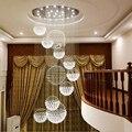 Jmmxiuz  хит продаж  новая спиральная светодиодная кристальная люстра K9 lustre de cristal  после продажи  estar do lobby escadas + бесплатная доставка