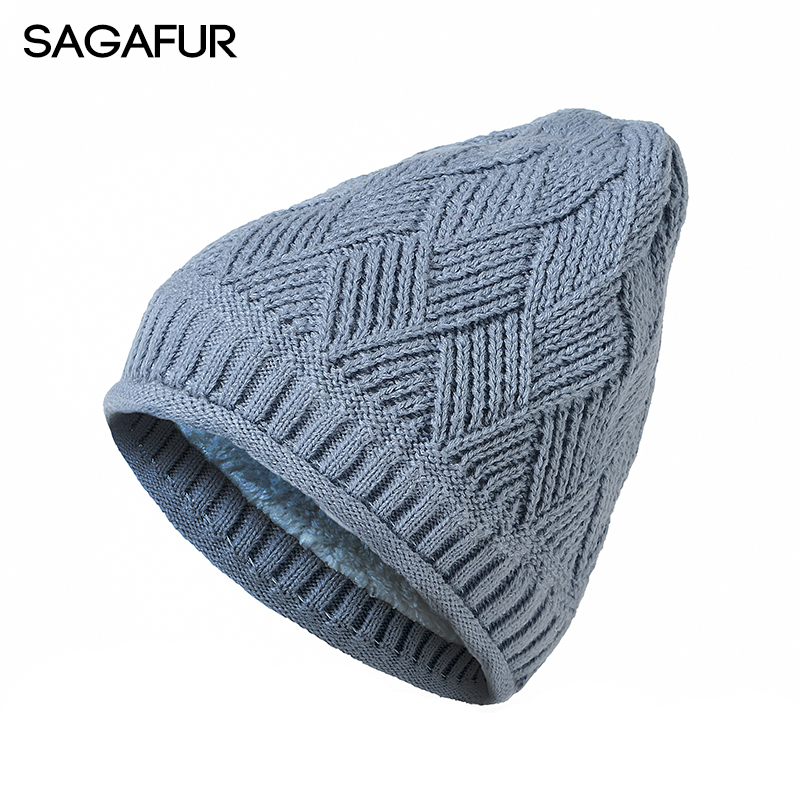 SAGAFUR Hats Women Men Cotton Knitted Beanie Stripe New 2017 Fashion Autumn Winter Warm Cap Hat Female Skullies Beanies  #CAP010 animal printing new plus side men and women with the double layer of warm ladies pile heap cap skullies hat knitted hat stripe