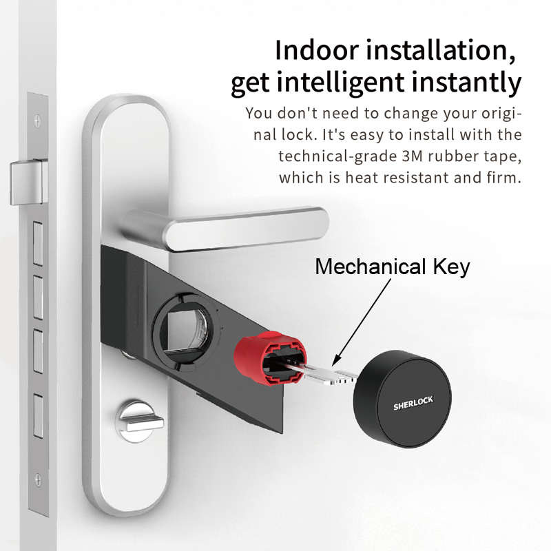 Image 2 - 2018 New Sherlock S2 Electronic Intelligent Door Lock Smart Lock IOS/Android APP Control Home Keyless Lock-in Electric Lock from Security & Protection