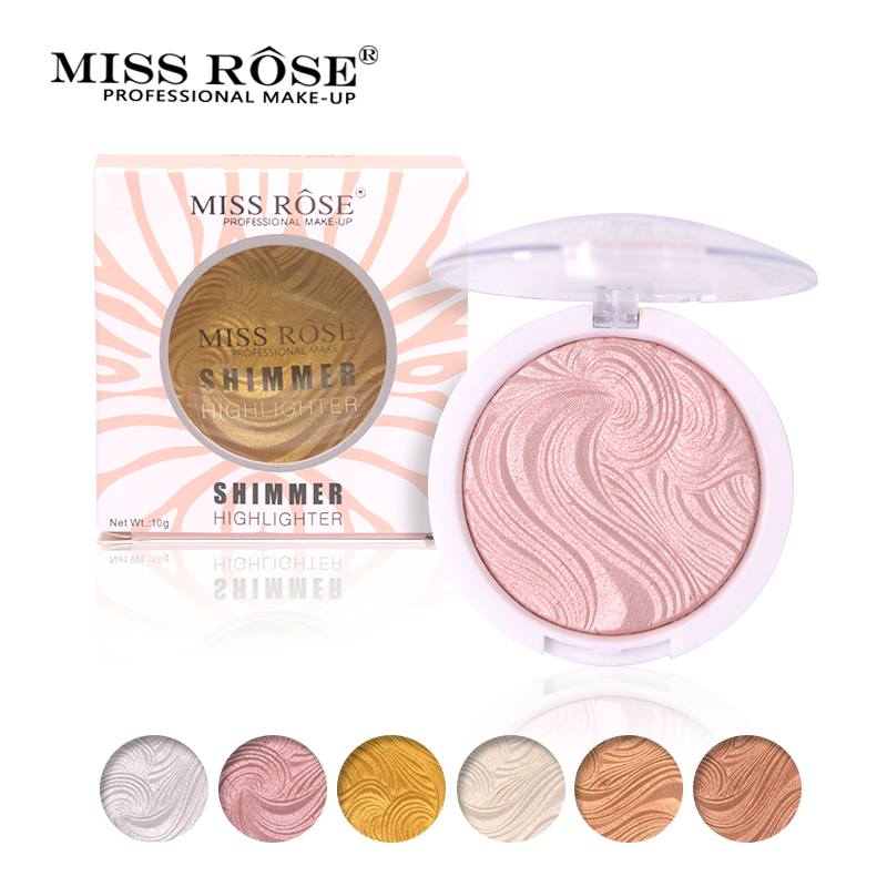 Miss Rose Base Makeup Highlighter Brighten Easy to wear Long Lasting Powder Palette Bronzer Glow kit Concealer