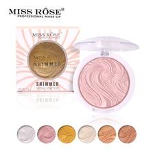 Miss Rose Base Makeup Highlighter Fényes Könnyen viselhető hosszú élettartamú paletta Bronzer Glow Kit korrektor