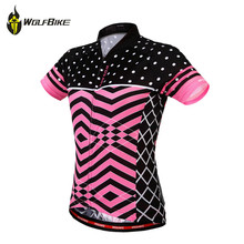 WOSAWE Summer Cycling Jersey Women Breathable Tight Sports Bike Bicycle Wear Short Sleeve Maillot Shirts Cycle MTB Clothing