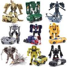 SLPF Toys Children Car Transformation Deformation Robot Plastic Assembly Assembling Model Boy Gift  Action Figure Pocket Toy D06 deformation toys king kong 4 league level ground lamp robot car model children toy boy gifts